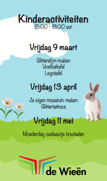 Kinderactiviteiten maart, april en mei